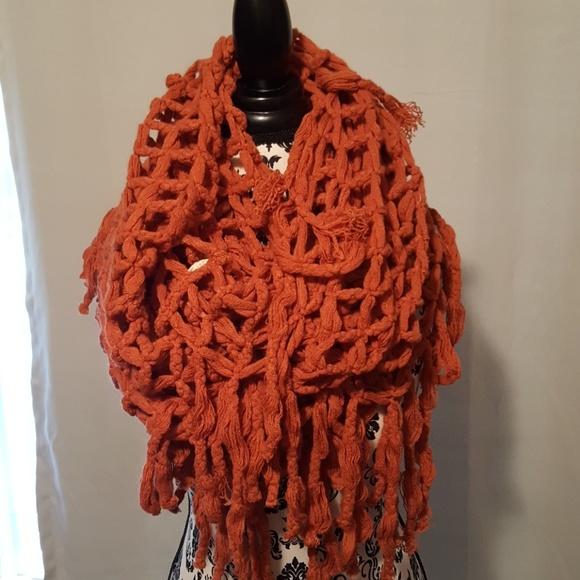 Accessories Open Knit Pattern Infinity Scarf Poshmark